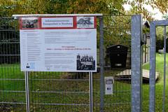 Zwangsarbeiterbaracken im Wilhelm-Raabe-Weg im Hamburger Stadtteil Fuhlsbüttel.