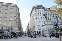Fotos aus der Hamburger Einkaufsstraße Neuer Wall im Stadtteil Neustadt - Hamburgs Innenstadt.