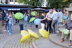 Ost-West-Move, Demonstration auf der Ludwig-Erhard-Straße in der Hamburger Neustadt, Altstadt.