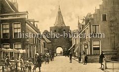 Altes Bild vom Fischtor in der ehemaligen Hansestadt Elburg.