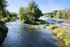 Fotos vom Wasserkraftwer in der Gemeinde Rottenacker an der Donau im Bundesland Badenwürttemberg.