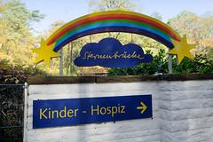 Kinder Hospiz Sternenbrücke im Hamburger Stadtteil Rissen; Logo / Eingang.