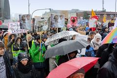Tierschützer*innen demonstrieren gegen umstrittenes Tierlabor LPT am 16.11.19. in Hamburg.