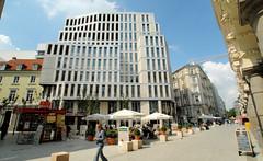 Bilder aus der Hamburger Innenstadt - Stadtteil Neustadt. Moderne Architektur am Gustav-Mahler-Platz / Colonnaden (2006).