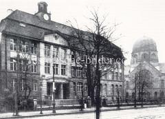 Historische Ansicht der Talmud Tora Schule - Schule der jüdischen Gemeinde in Hamburg.