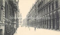 Bilder aus der Hamburger Innenstadt - Stadtteil Neustadt. Historische Fotografie von den Hamburger Colonnaden, die um 1880 entstanden.