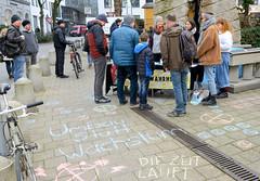 Mahnwache der Klimabewegung Extinciton Rebellion XR in Hamburg.