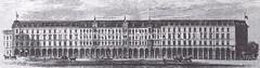 Bilder aus der Hamburger Innenstadt - Stadtteil Neustadt. Historische Ansicht der ab 1880 entstandenen Hamburger Colonnaden.