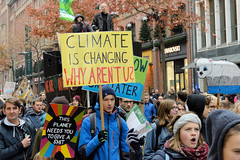 Demonstration Fridays for Future am 15.11.2019 in Hamburg.