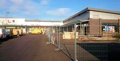Umbau des Nahversorgungszentrums Eichholzkoppel in Tangstedt - der Drogeriemarkt Budnikowski wird dort einziehen.