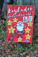 Ankündigungsplakat für den Kayhuder  Weihnachtsmarkt.