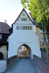 Die Stadt Lauingen , Donau liegt im Landkreis Dillingen im Donautal in Bayern.