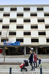 Bilder von der Architektur in der Hamburger Altstadt; Parkhaus in der Neuen Gröninger Straße.
