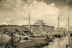 Werke der Hansa-Mühle, Sojawerke Neuhof - Hamburg Wilhelmsburg.