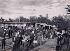 Historische Fotografie vom Theater Belli auf Hamburg St. Pauli, 1892.