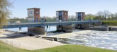 Wehr des Gnevsdorfer Vorfluters an der Elbe - der Gnevsdorfer Vorfluter ist ein etwa 11 km langer Kanal zwischen der Havel und der Elbe.
