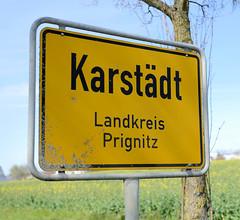 Karstädt (Prignitz) ist eine Gemeinde Bundesland Brandenburg - Teile  liegen innerhalb des Biosphärenreservats Flusslandschaft Elbe-Brandenburg.