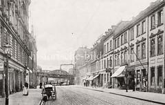 Altes Bild von der Hamburger Straße in Altona - jetzt Max-Brauer-Allee, 1909.