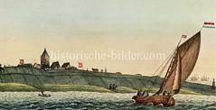 Historische Ansicht von der Hamburger Insel Neuwerk.