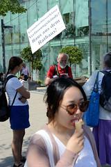 Protestaktion gegen Coronamaßnahmen in der Hansestadt Hamburg.