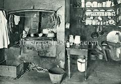 Innenansicht ein Wohnung im Hamburger Gängeviertel um 1900.