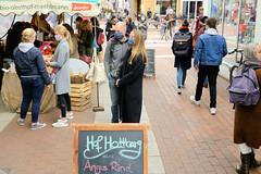 Fotos vom Wochenmarkt am Spritzenplatz in Hamburg Ottensen zu Zeiten der Corona-Seuche 2020.