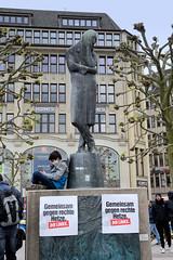 Protestaktionen in der Hamburger Innenstadt während der Corona - Covid 19 - Pandemie 2020.