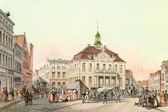 Altes Rathaus von Altona, errichtet 1721 - Entwurf Stadtbaumeister Claus Stallknecht. Das neue Altonaer Rathaus wurde 1898 im Bahnhofsgebäude errichtet.