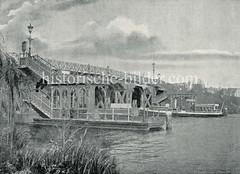 Historisches Bild  von der Krugkoppelbrücke an der Alster in Hamburg Harvestehude / Winterhude.