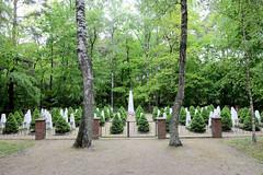 Sowjetischer Soldatenfriedhof / Ehrenfriedhof in Neustadt-Glewe am Neustädter See.