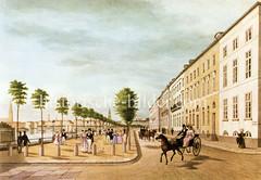 Blick in den Neuen Jungfernstieg in der Hamburger Neustadt um 1835.