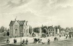 Blick auf das historische Klostertor, eines der Hamburger Stadttore in der Stadtbefestigung