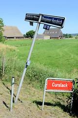 Stadtteilgrenze zwischen Hamburg Curslack / Altengamme - Altengamme Hausdeich, Curslacker Deich - Hamburg Vierlande.