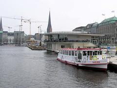 Die Europapassage in der Hamburger Innenstadt - vom Hotel zum Kontorhaus zum Einkaufszentrum am Alsterdamm, Ballindamm.
