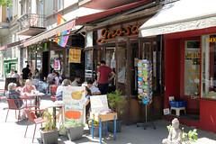 Fotos aus den Hamburger Stadtteilen und Bezirken - Bilder aus Hamburg St. Georg, Bezirk Hamburg Mitte; Café Gnosa in der Langen Reihe.