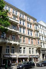 Fotos aus den Hamburger Stadtteilen und Bezirken - Bilder aus Hamburg St. Georg, Bezirk Hamburg Mitte; Wohngeschäfthaus in der Langen Reihe - erbaut 1890, Architekten Stamman + Zinnow.