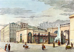 Markthalle am Alstertor in der Hamburger Alstadt, errichtet um 1846.