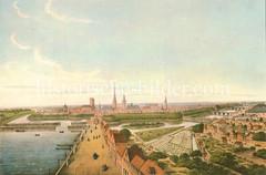 Blick vom Dammtor auf den Wallgraben und die Hamburger Stadtbefestigung um 1590.
