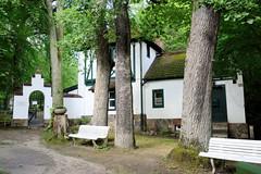 Friedrichsruh ist ein Ortsteil der Gemeinde Aumühle, Kreis Herzogtum Lauenburg in Schleswig-Holstein;  Eingangsbereich zum Bismarck-Mausoleum