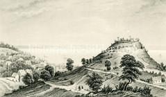 Historische Ansicht vom Süllberg und der Elbe bei Hamburg Blankenese.