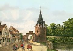 Hamburger Stadtbefestigung 1587 - Blick auf das Dammtor.
