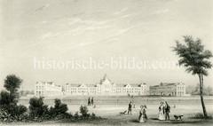 Das Schröderstift wurde vom Hamburger Kaufmanns und Bankiers Johann Heinrich Schröder als 1852 errichtet - Architekt  Albert Rosengarten. Die Anlage umfasste 52 kleine Wohnungen mit zwei Stuben und Küche.