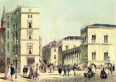 Hamburger Johanneum auf dem Domplatz - fertiggestellt 1840, Architekten  Carl Ludwig Wimmel und Franz Gustav Forsmann; Blick vom Speersort.