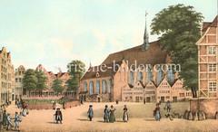 Alte Darstellung vom Maria-Magdalenen Kloster  um 1800.