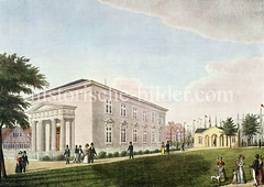 Klassizistische Architektur der Englischen Kirche am Johannisbollwerk um 1840 - Architekt Ole Jörgen Schmdt.