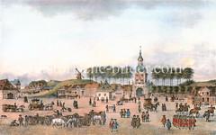 Blick über den Zeughausmarkt zum Millerntor, ca. 1700.