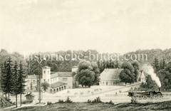 Historische Ansicht vom Bahnhof in Friedrichsruh  jetzt Ortsteil der Gemeinde Aumühle.