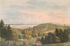 Blick auf den Süllberg und die Elbe bei Blankenese.