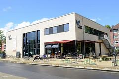 Fotos aus dem Hamburger Stadtteil Horn - Bezirk Hamburg Mitte. Gebäude des Stadtteilhauses Horner Freiheit - Café.