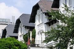 Historische Wohnhäuser an der Altonaer Strasse Rainvilleterrasse.